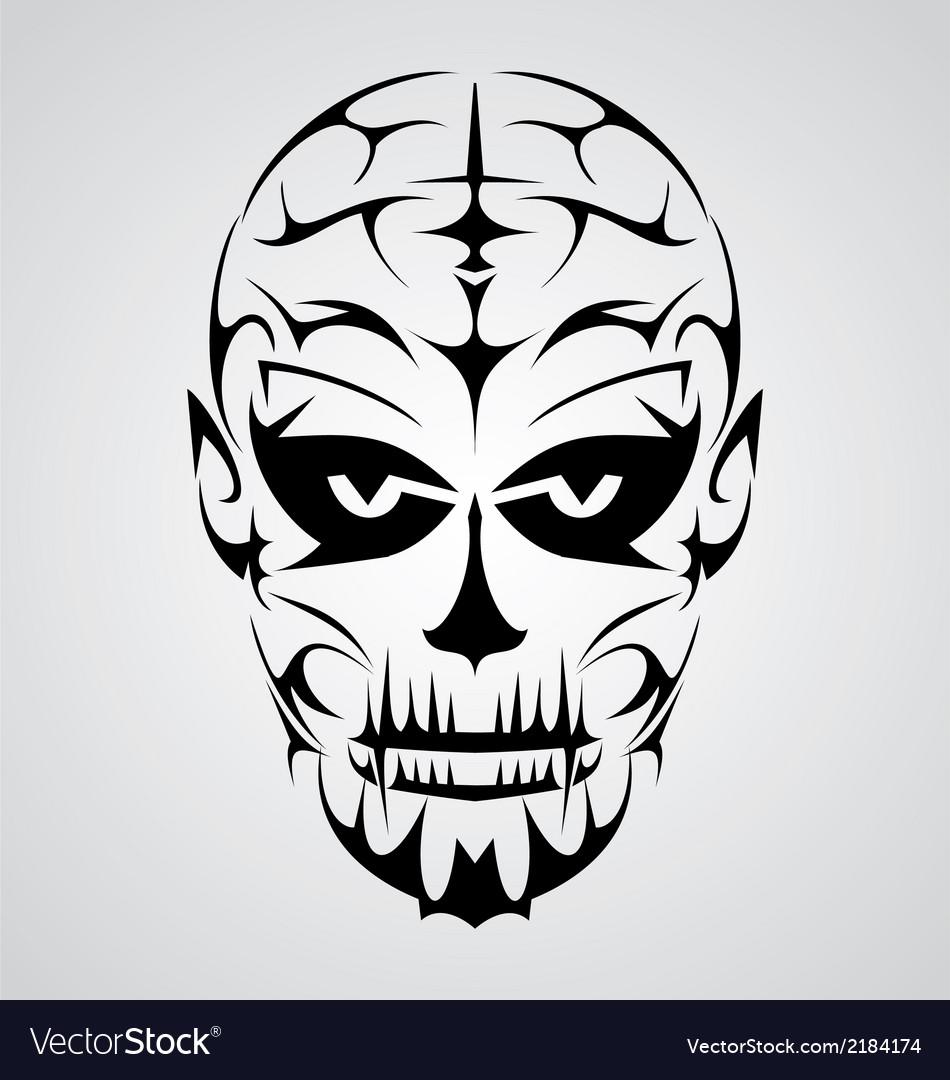 Face tribal vector | Price: 1 Credit (USD $1)