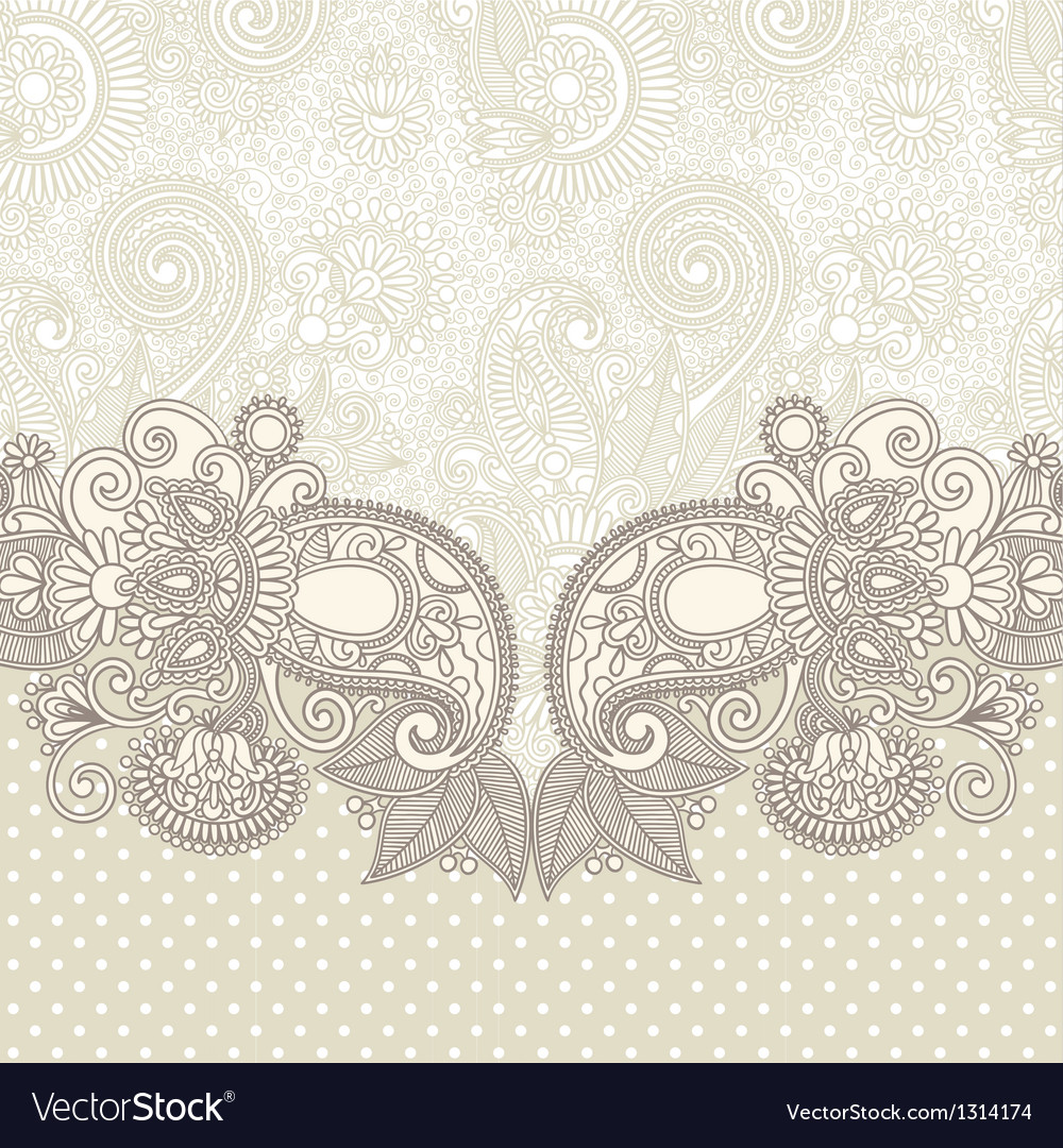 Floral ornate card announcement vector | Price: 1 Credit (USD $1)