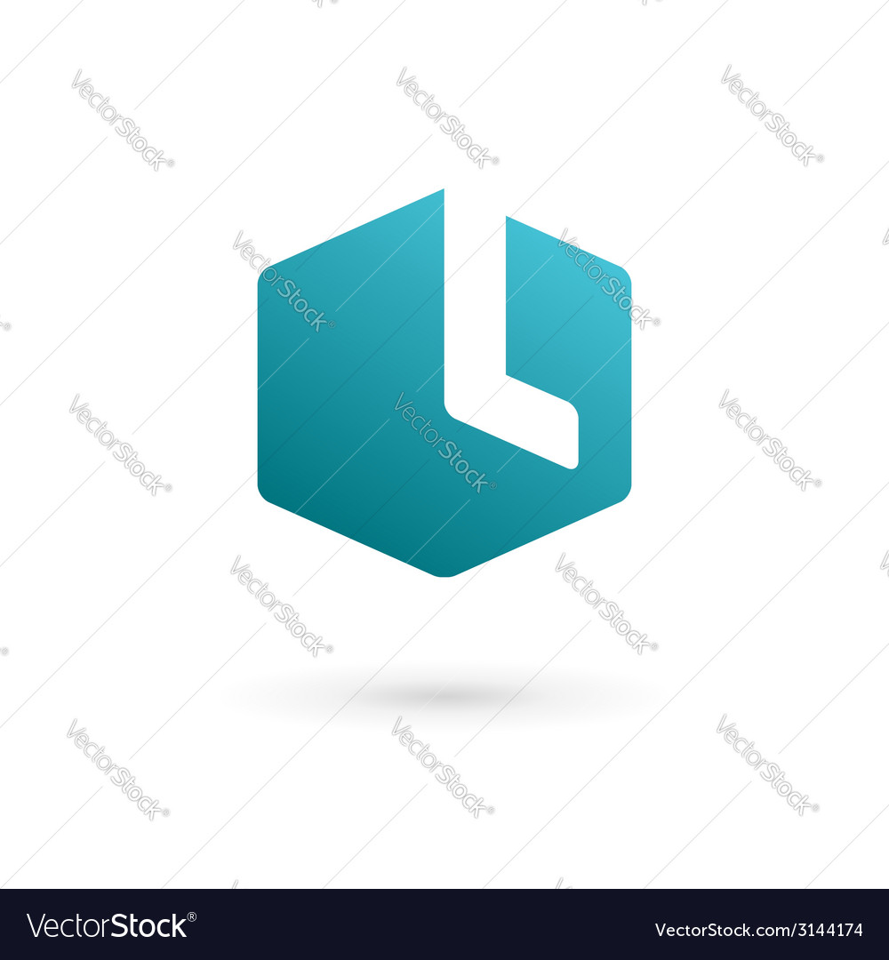 Letter l cube logo icon vector | Price: 1 Credit (USD $1)