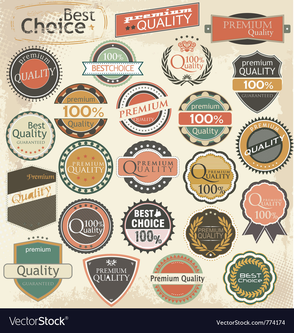 Retro label style collection set vector | Price: 3 Credit (USD $3)