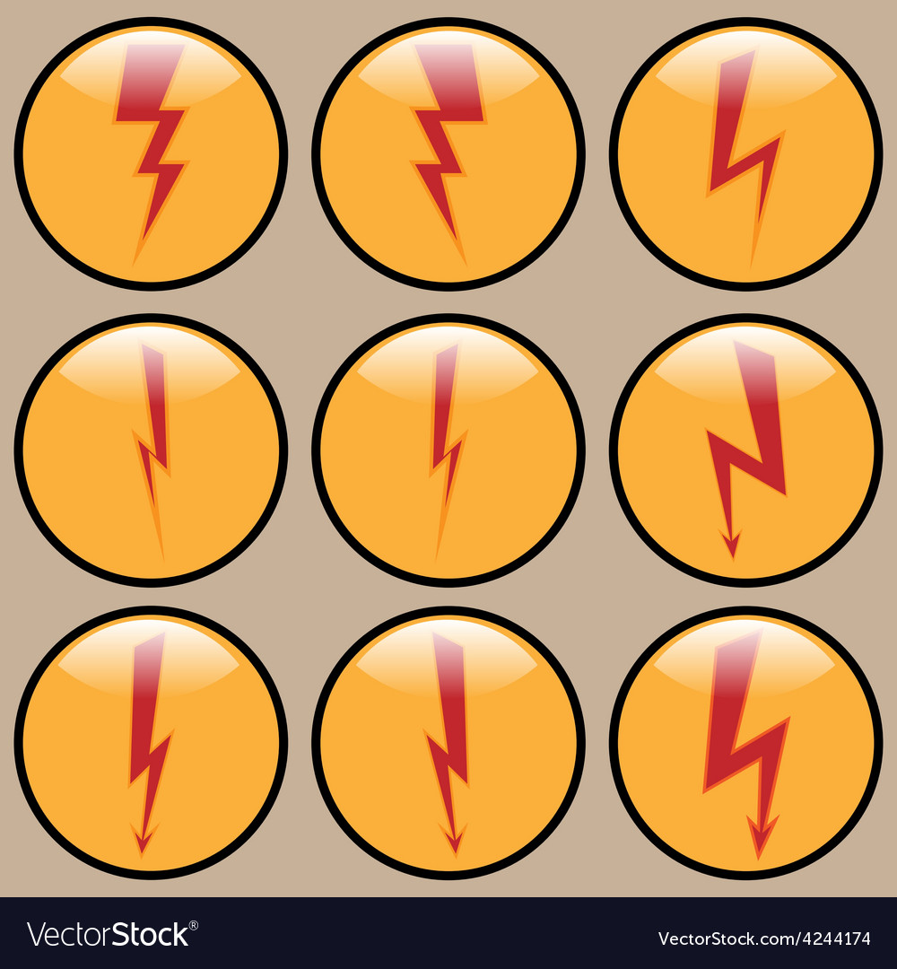 Round icons lightning vector | Price: 1 Credit (USD $1)