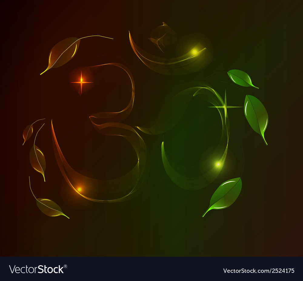 Abstract colorful om sign over dark background vector | Price: 1 Credit (USD $1)