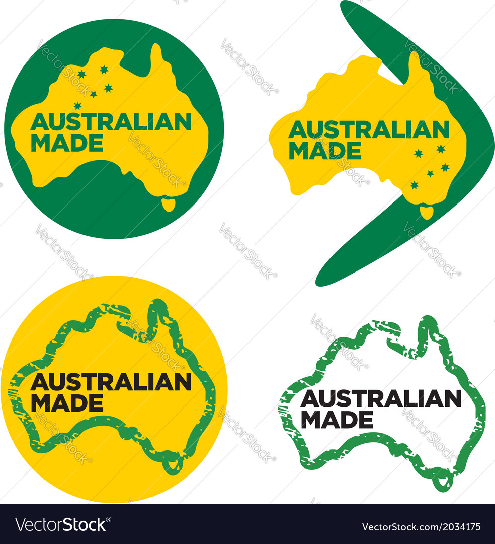 Australian made logos vector | Price: 1 Credit (USD $1)