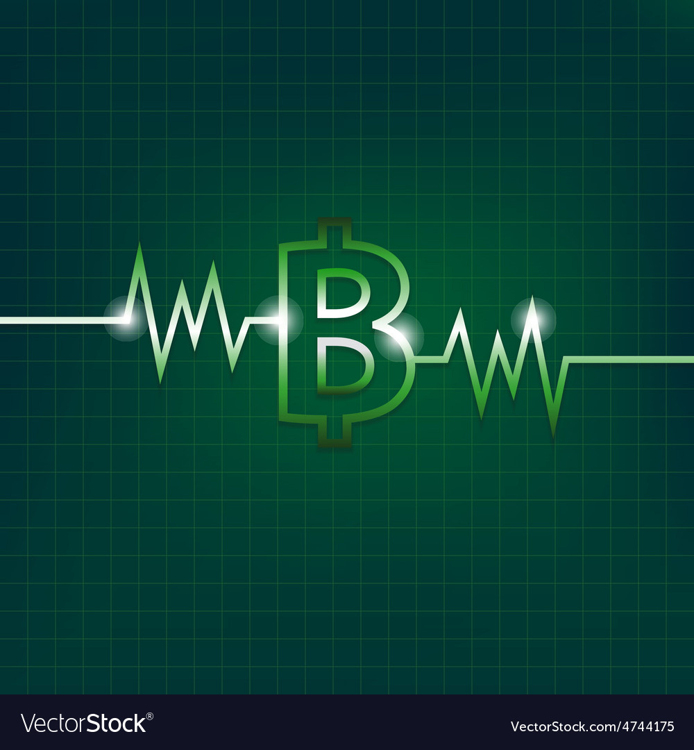 Baht sign concept with pulsation vector | Price: 1 Credit (USD $1)