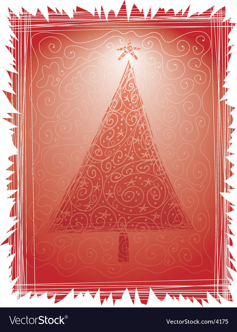 Christmas tree card vector | Price: 1 Credit (USD $1)