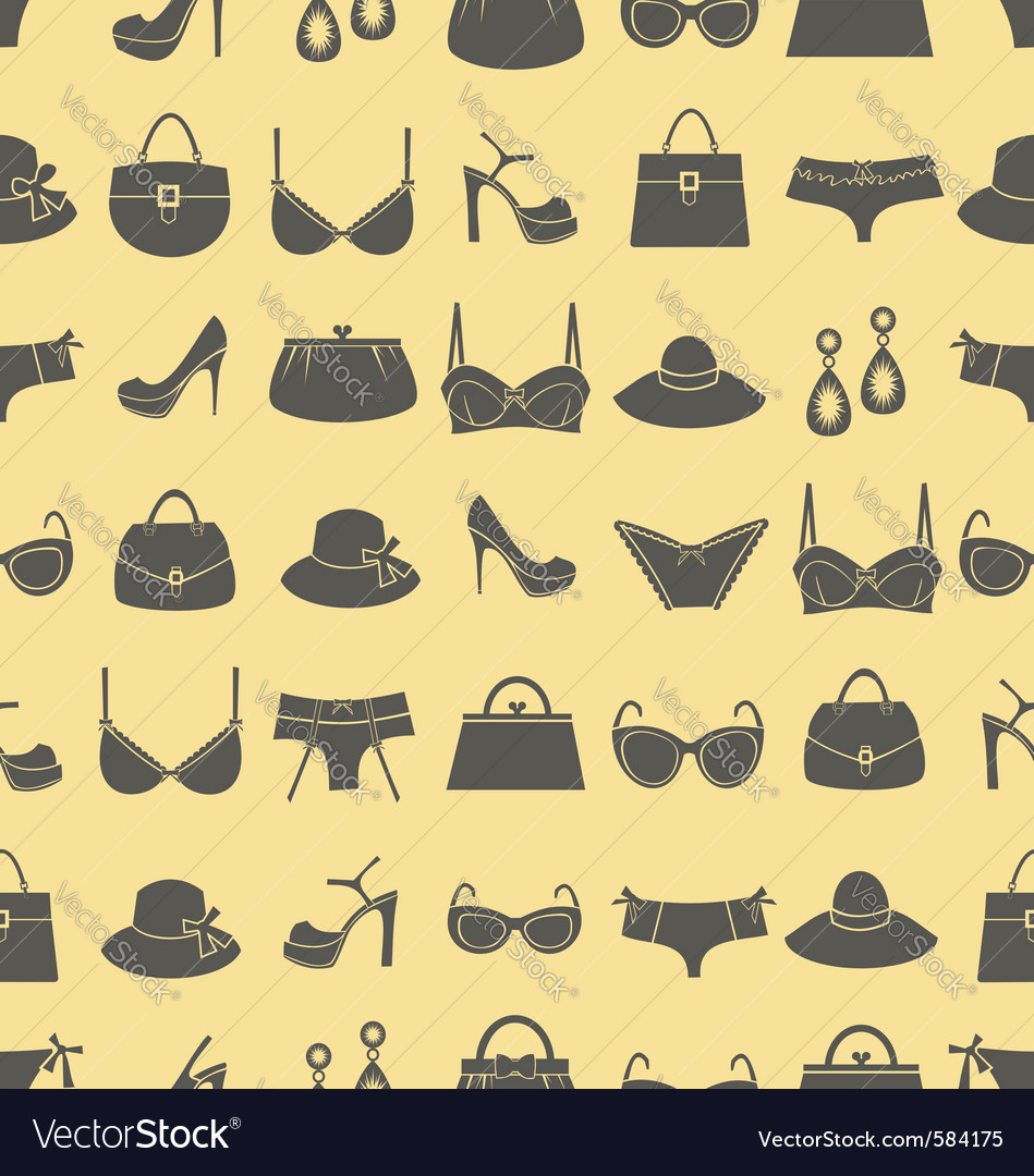 Fashion accessories pattern vector | Price: 1 Credit (USD $1)