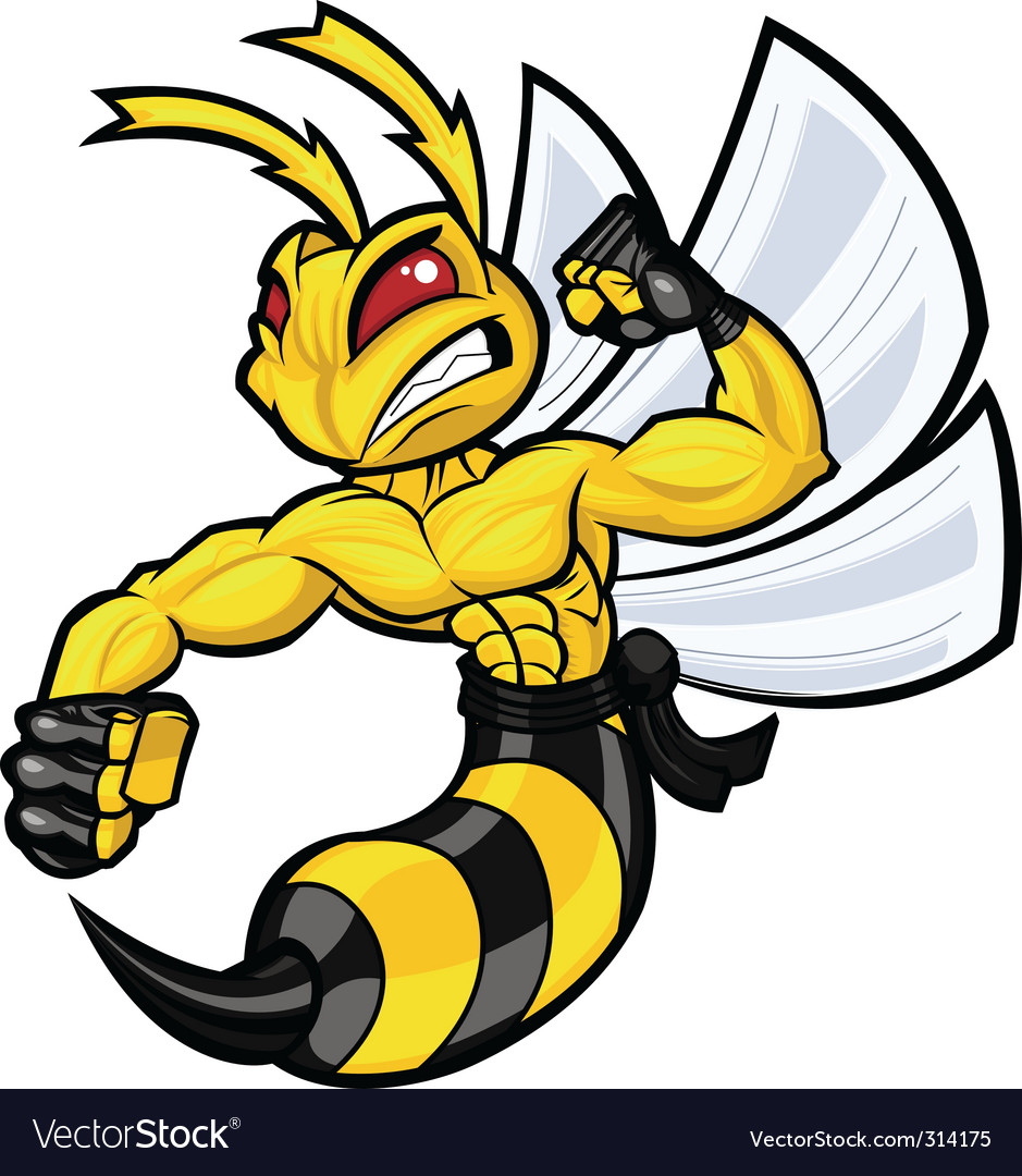 Fighting hornet vector | Price: 3 Credit (USD $3)