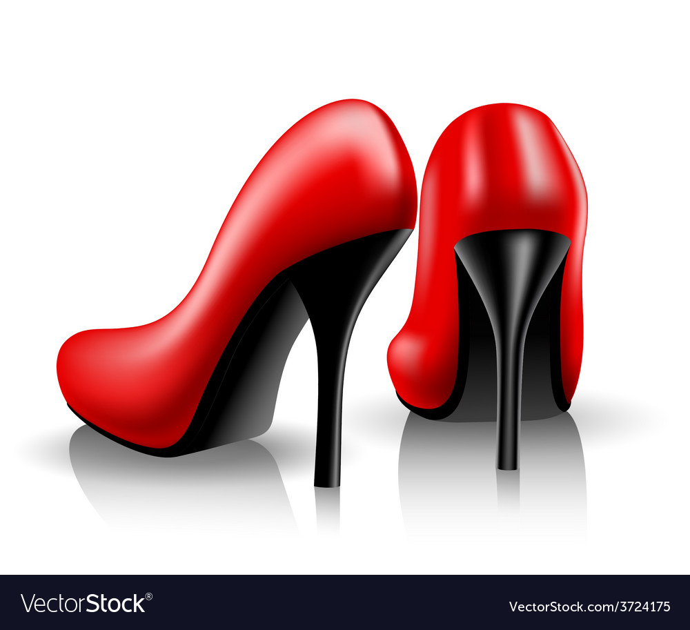 Red shoes vector   Price: 1 Credit (USD $1)