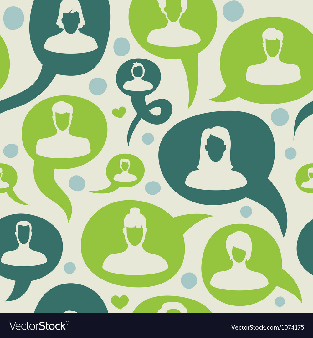 Seamless pattern with social network vector | Price: 1 Credit (USD $1)