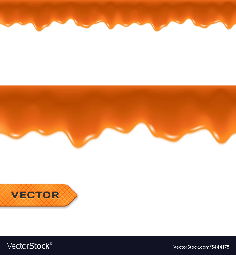 Toffee caramel drips seamless border vector   Price: 1 Credit (USD $1)