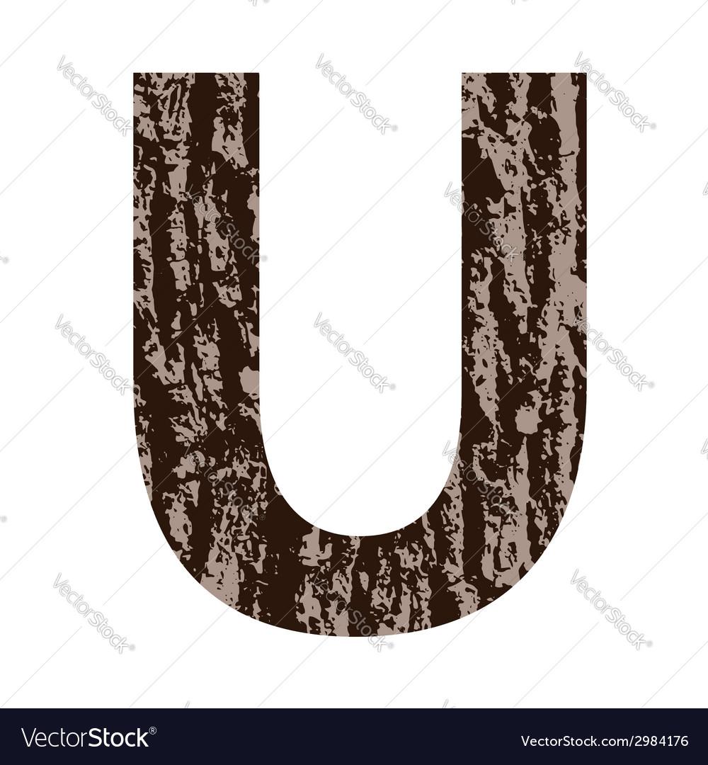 Bark letter u vector | Price: 1 Credit (USD $1)
