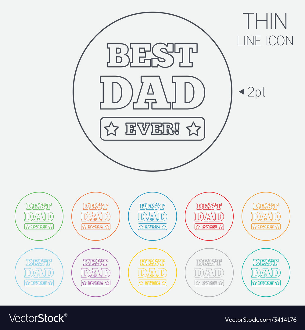 Best father ever sign icon award symbol vector   Price: 1 Credit (USD $1)