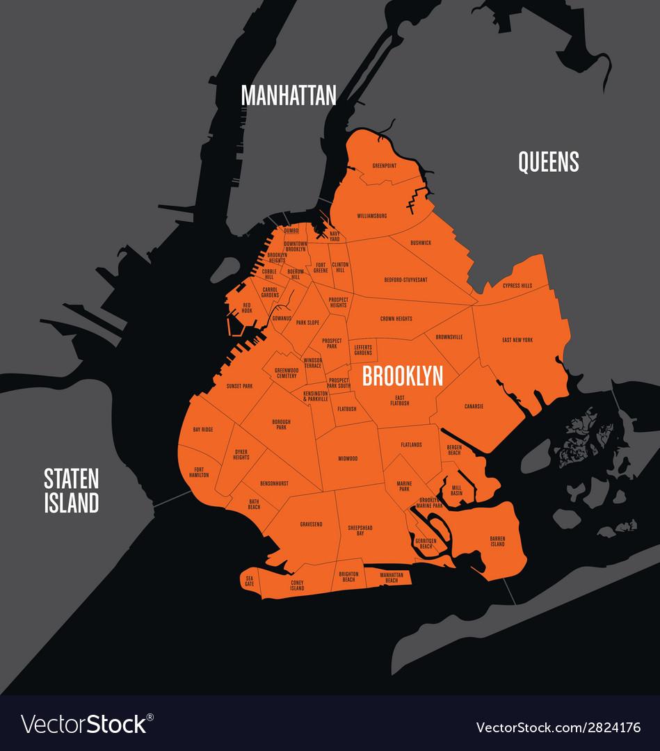 Brooklyn map vector | Price: 1 Credit (USD $1)