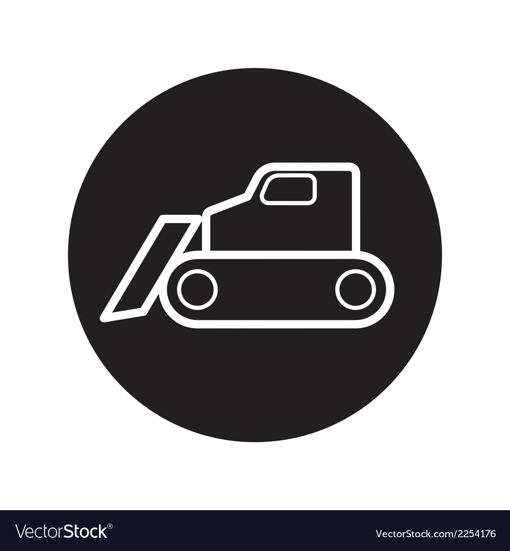 Caterpillar bulldozer icon vector | Price: 1 Credit (USD $1)