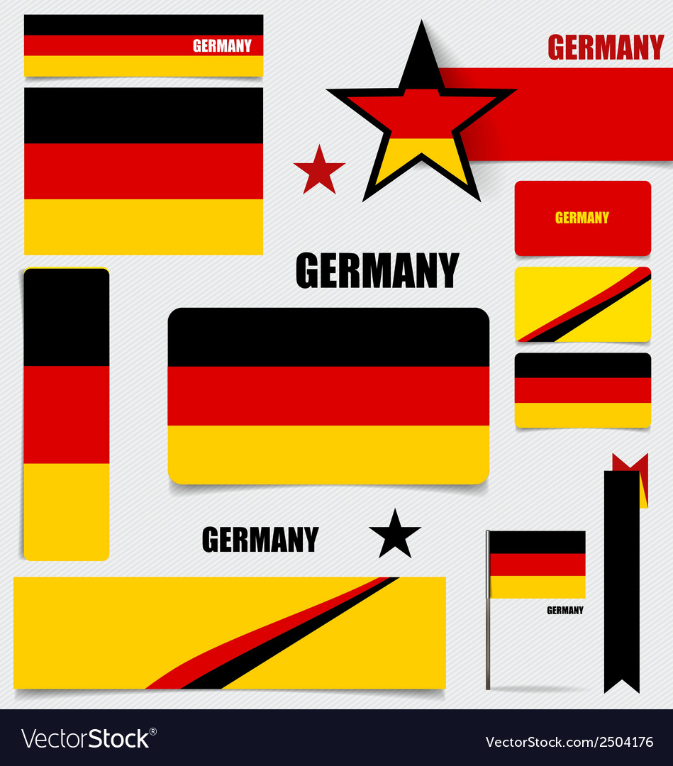 Collection of germany flags flags concept design vector | Price: 1 Credit (USD $1)