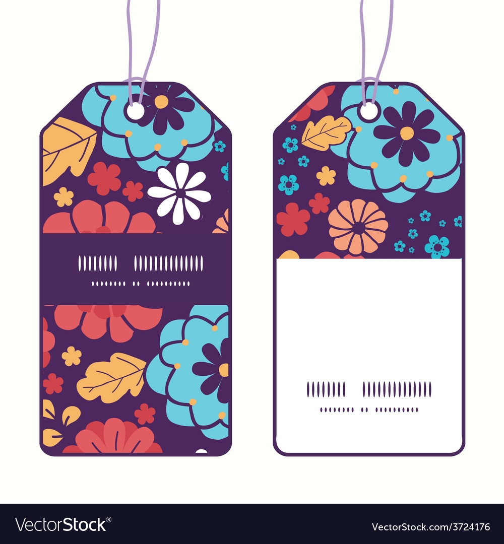 Colorful bouquet flowers vertical stripe vector | Price: 1 Credit (USD $1)