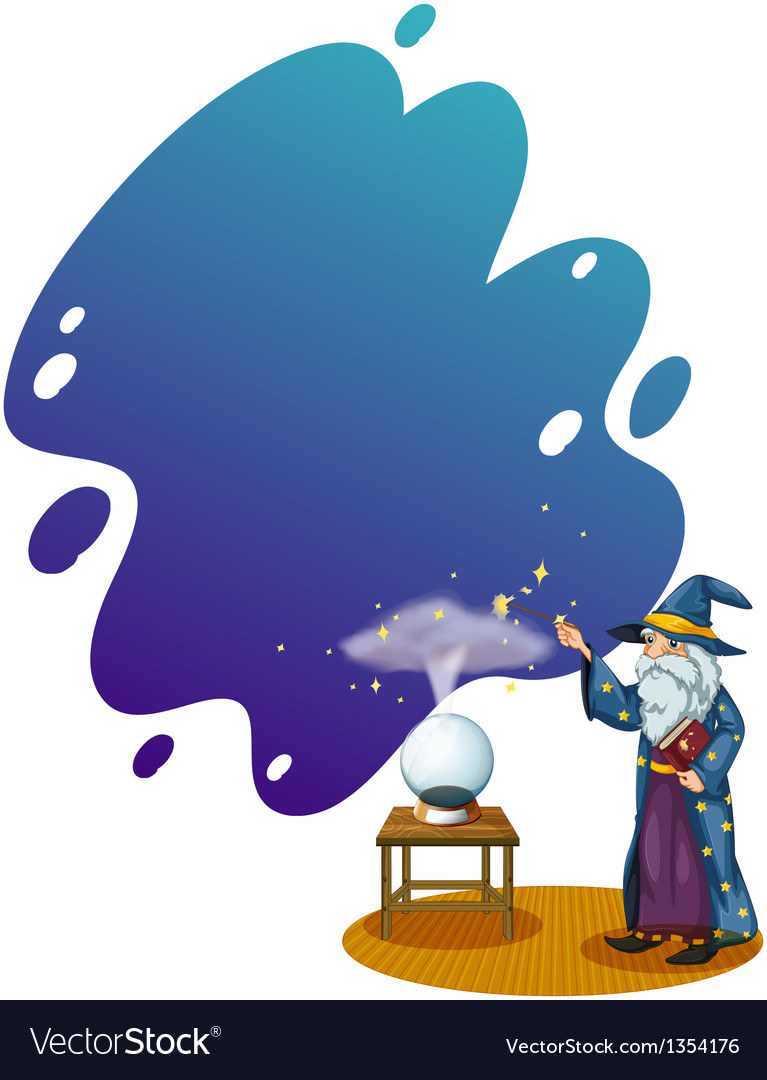 Crystal ball wizard vector | Price: 1 Credit (USD $1)