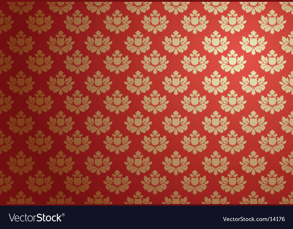 Gold and red glamour pattern vector | Price: 1 Credit (USD $1)