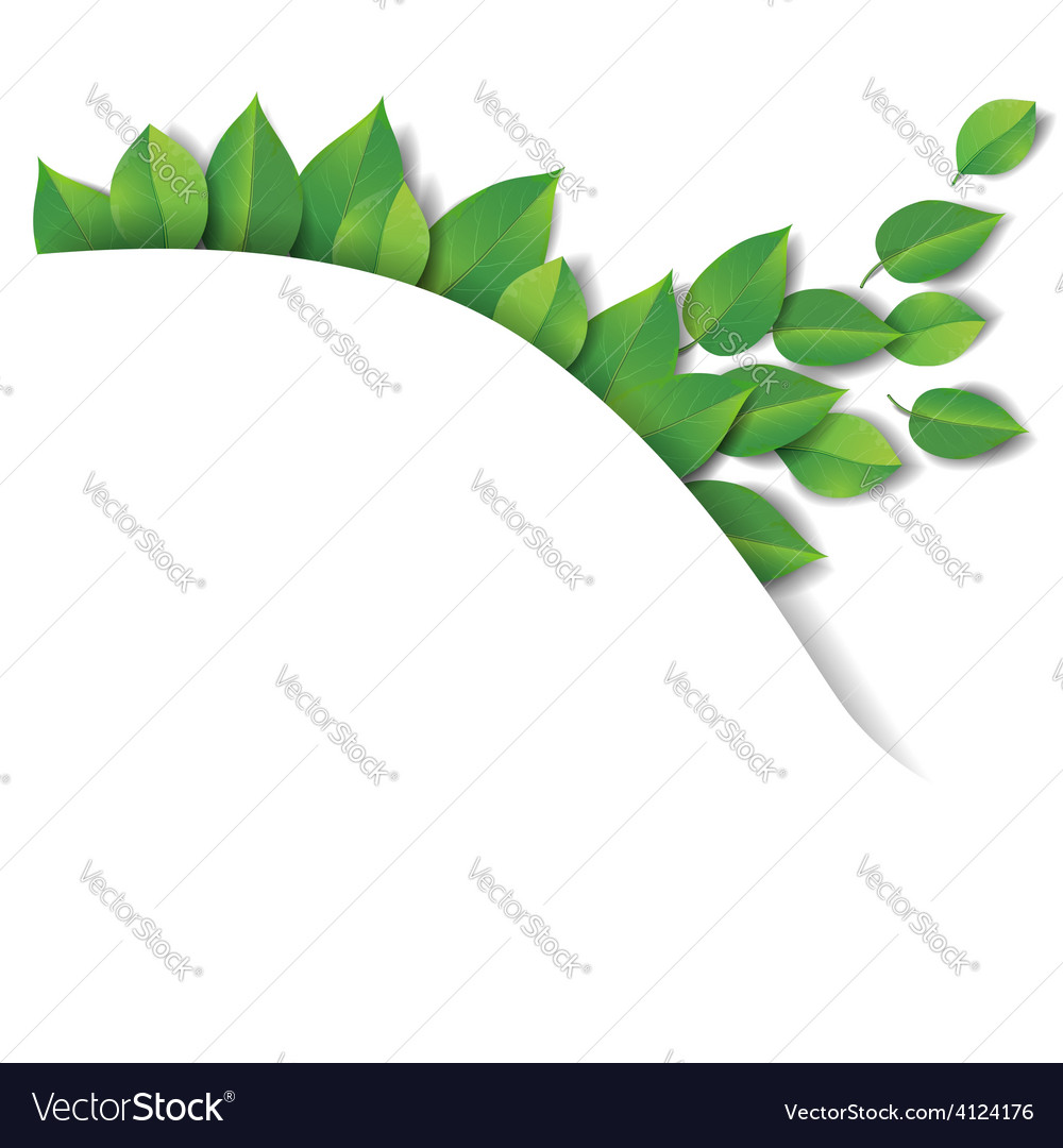 Green leaves wave vector | Price: 1 Credit (USD $1)