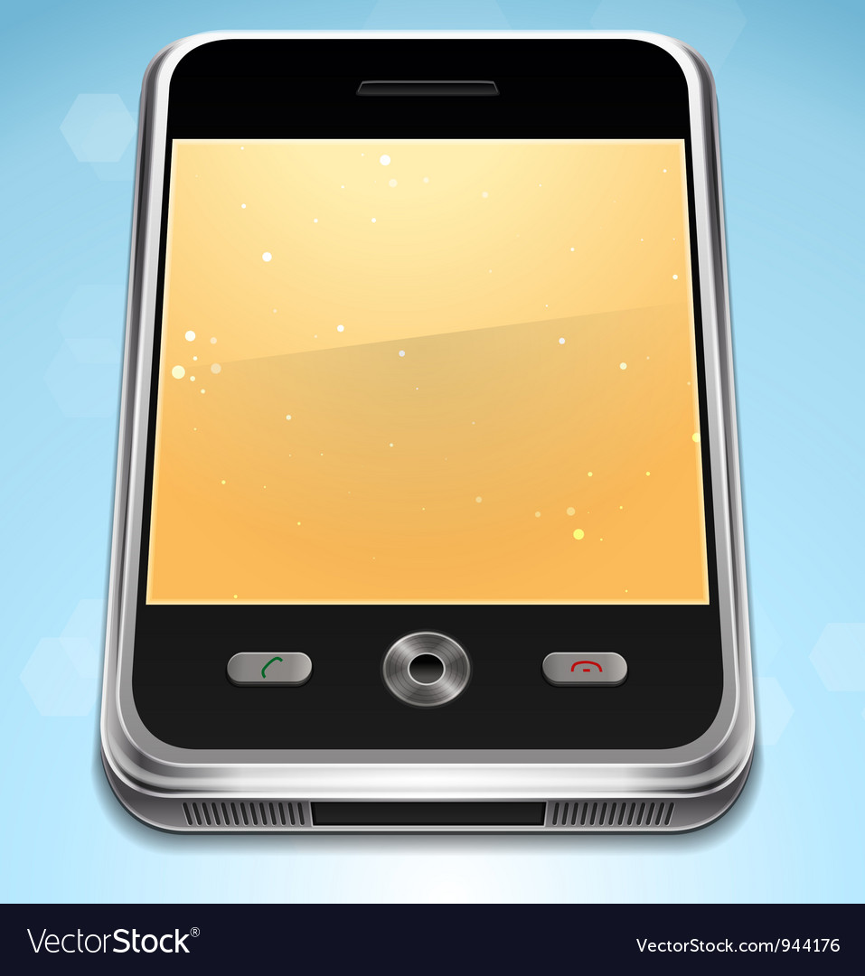 Realistic cell phone vector | Price: 3 Credit (USD $3)