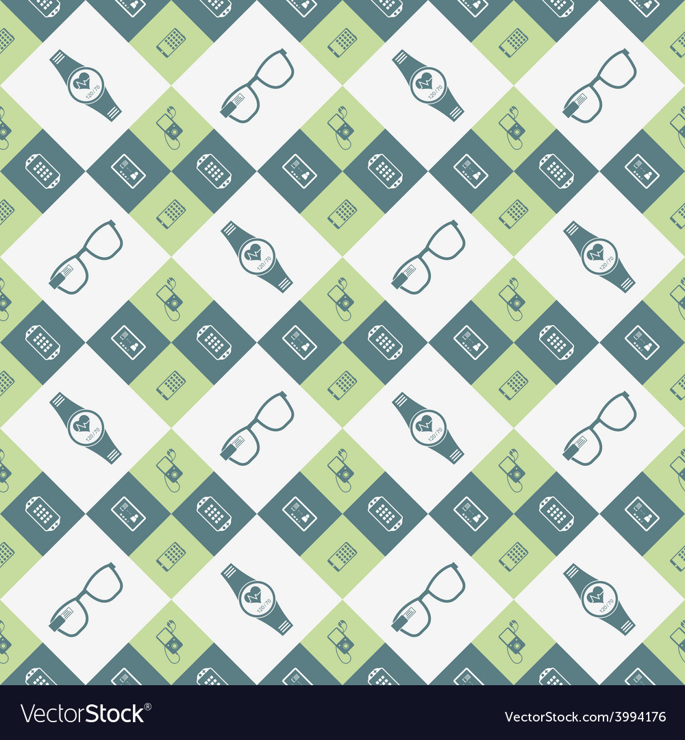Seamless pattern of smart devices vector | Price: 1 Credit (USD $1)