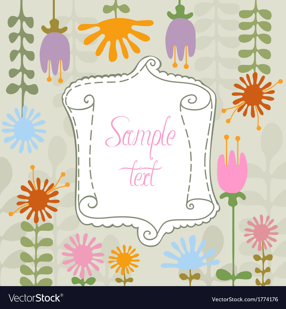 Simple flowers and banner vector | Price: 1 Credit (USD $1)