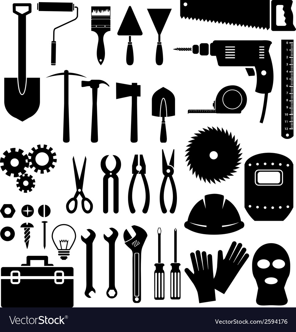 Tools icon on white background vector | Price: 1 Credit (USD $1)