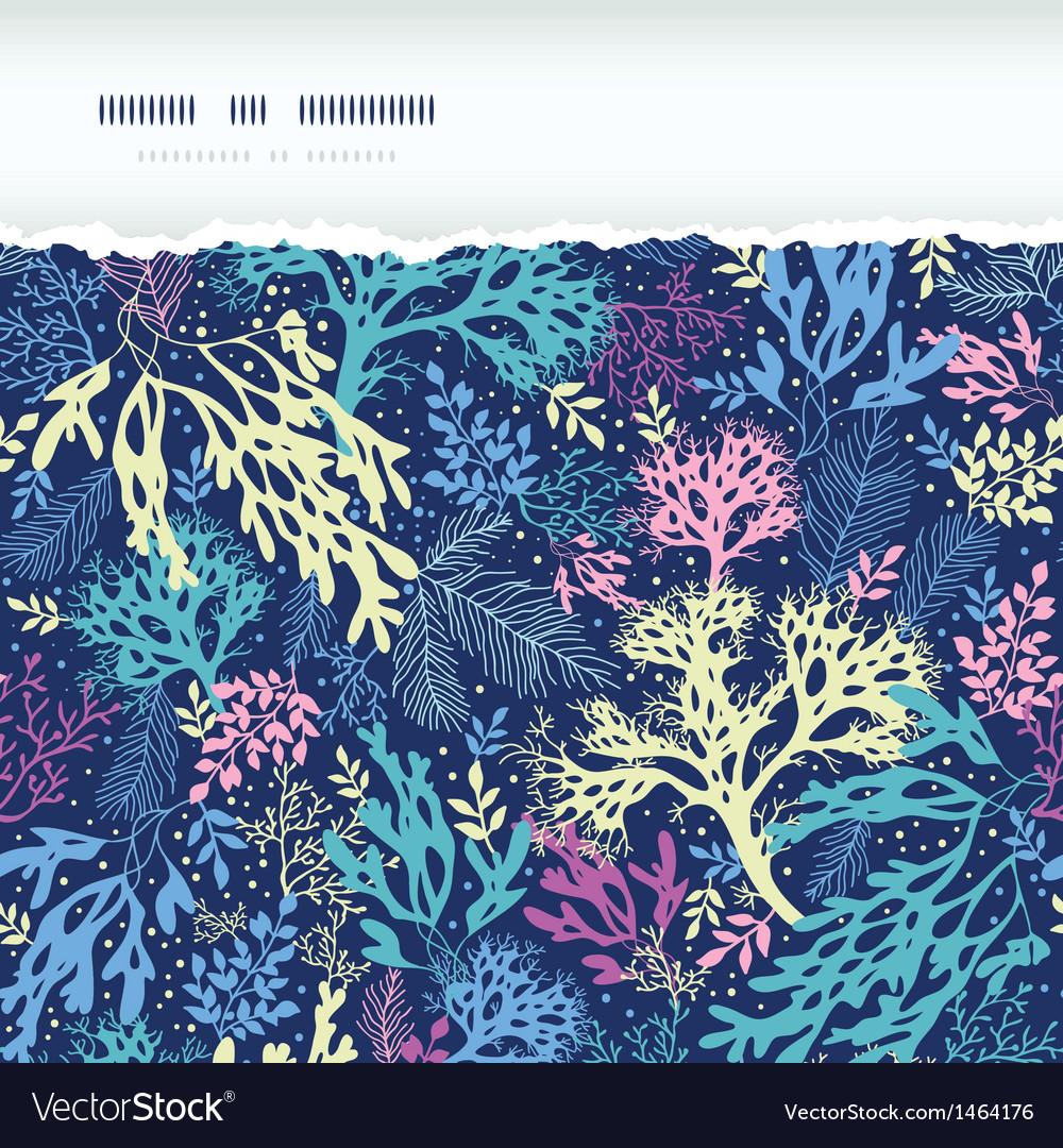 Underwater seaweed horizontal torn seamless vector   Price: 1 Credit (USD $1)