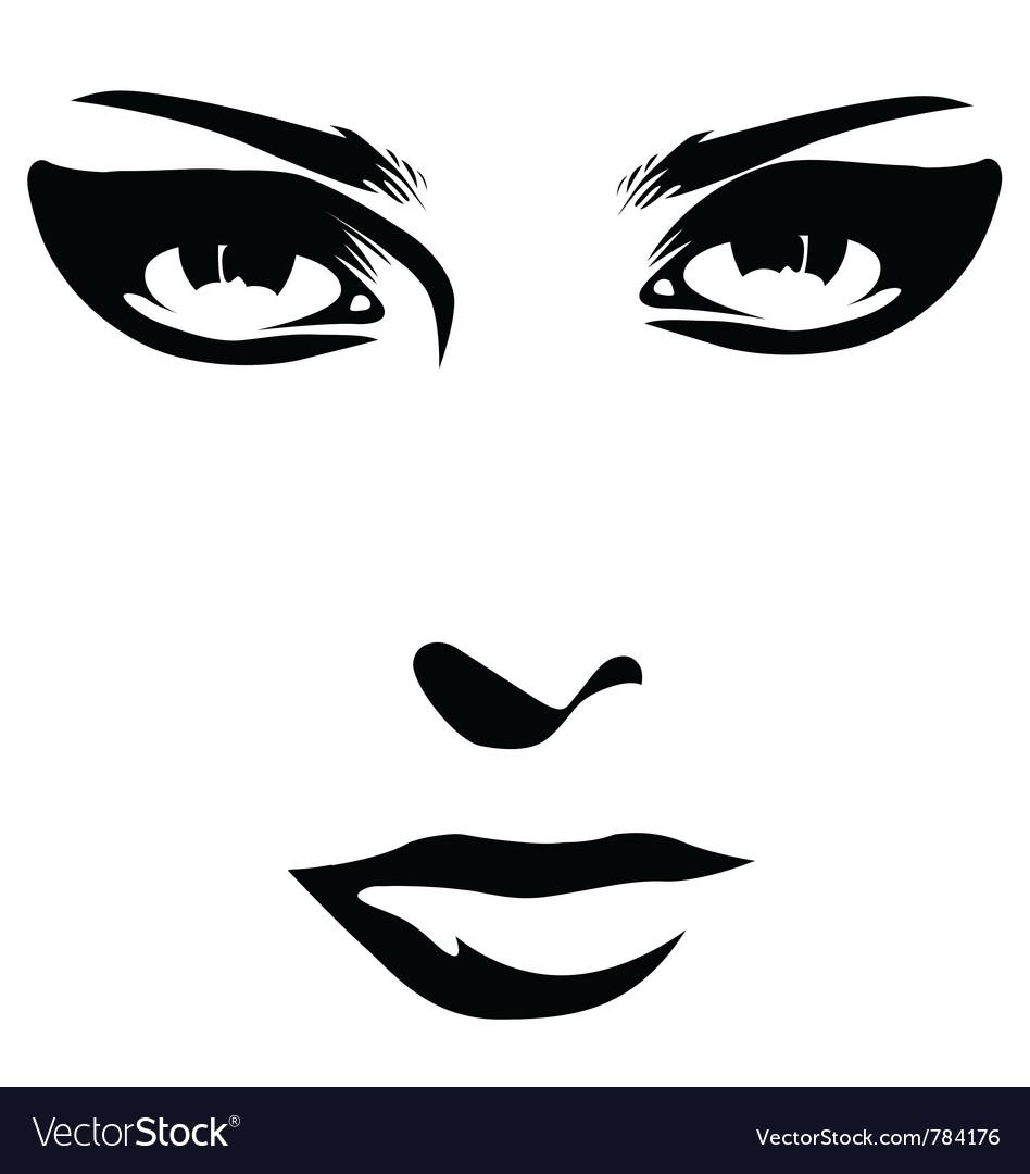 Woman face detail closeup vector | Price: 1 Credit (USD $1)