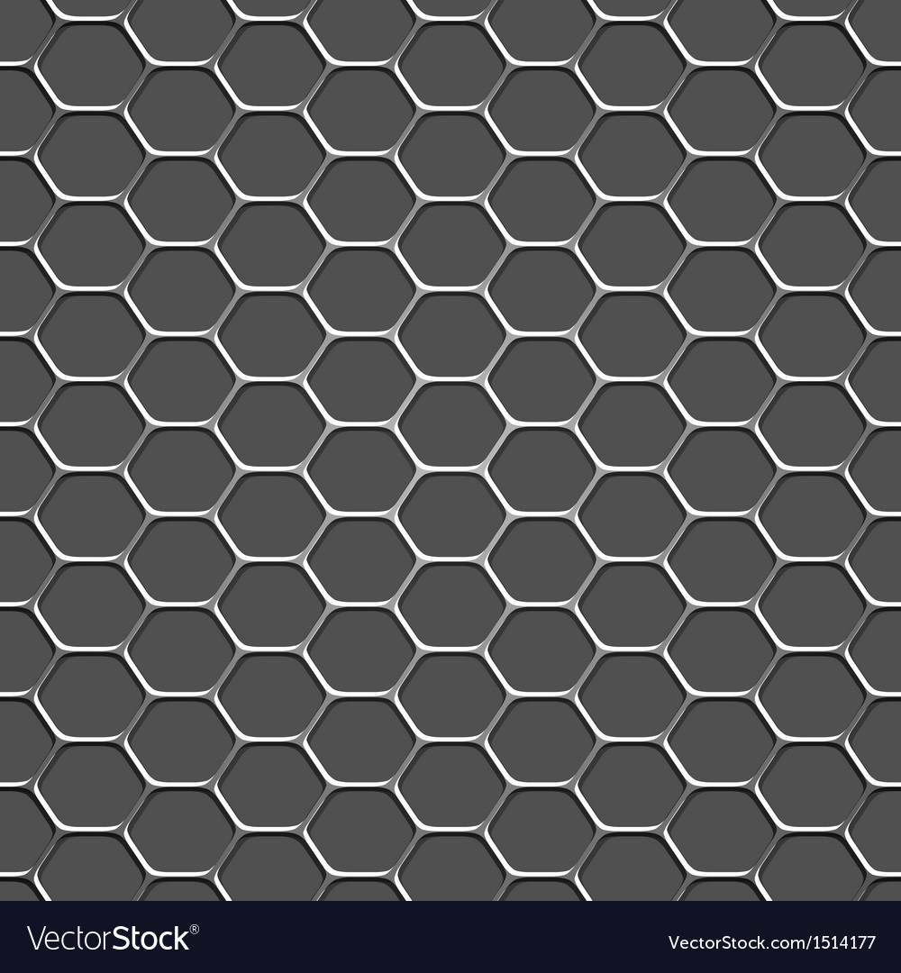 3d monochromatic honeycomb pattern background vector | Price: 1 Credit (USD $1)