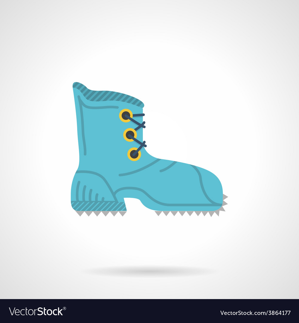 Climbing boot flat icon vector | Price: 1 Credit (USD $1)