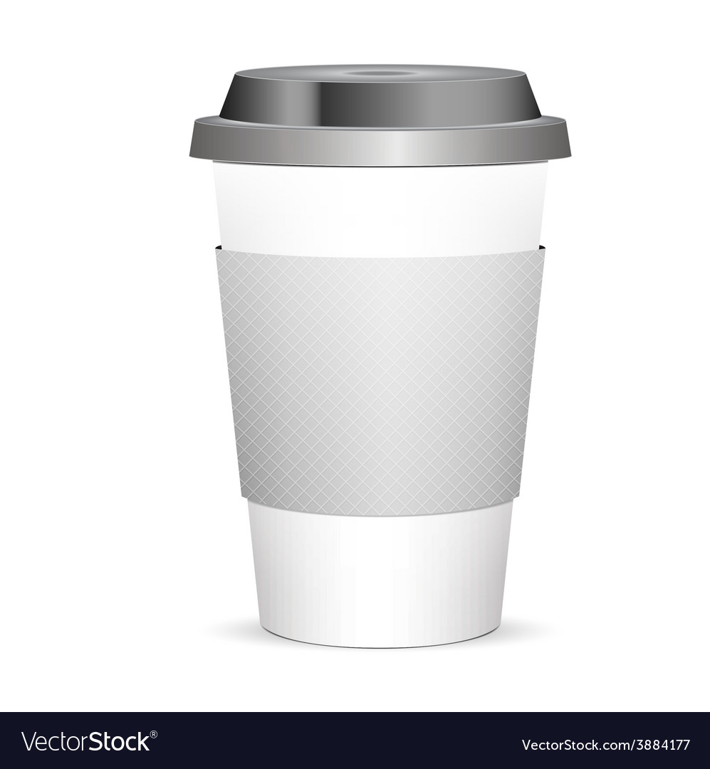 Disposable coffee cup isolated vector   Price: 1 Credit (USD $1)