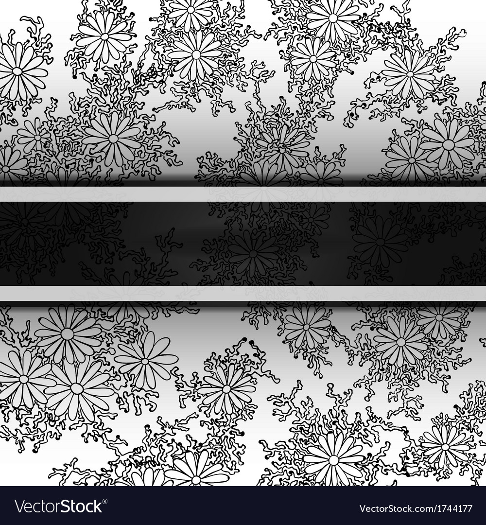 Floral decorative background template frame design vector | Price: 1 Credit (USD $1)