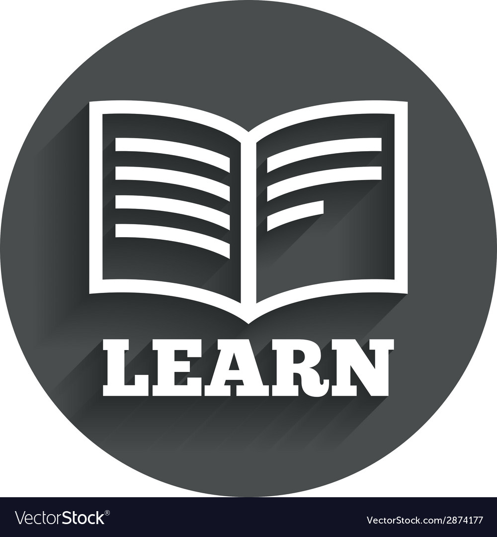 Learn book sign icon education symbol vector   Price: 1 Credit (USD $1)