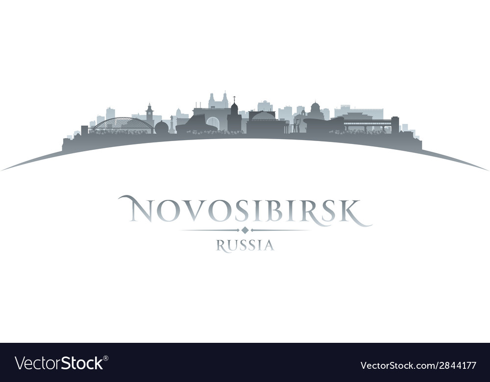 Novosibirsk russia city skyline silhouette vector | Price: 1 Credit (USD $1)