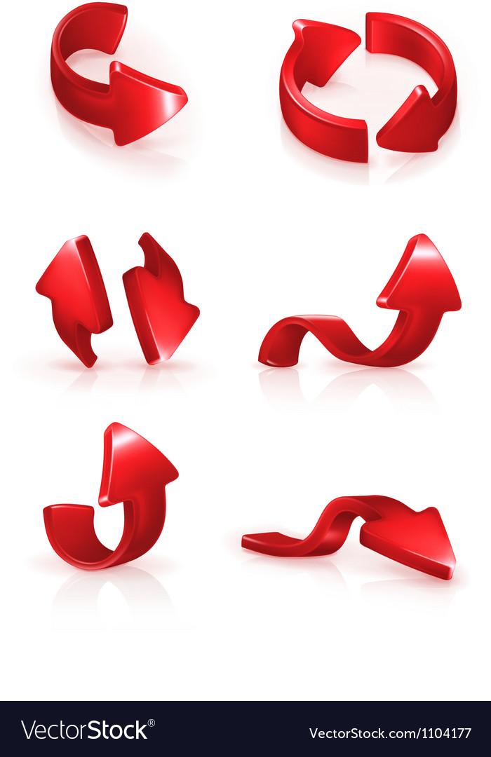 Red arrows set vector   Price: 1 Credit (USD $1)