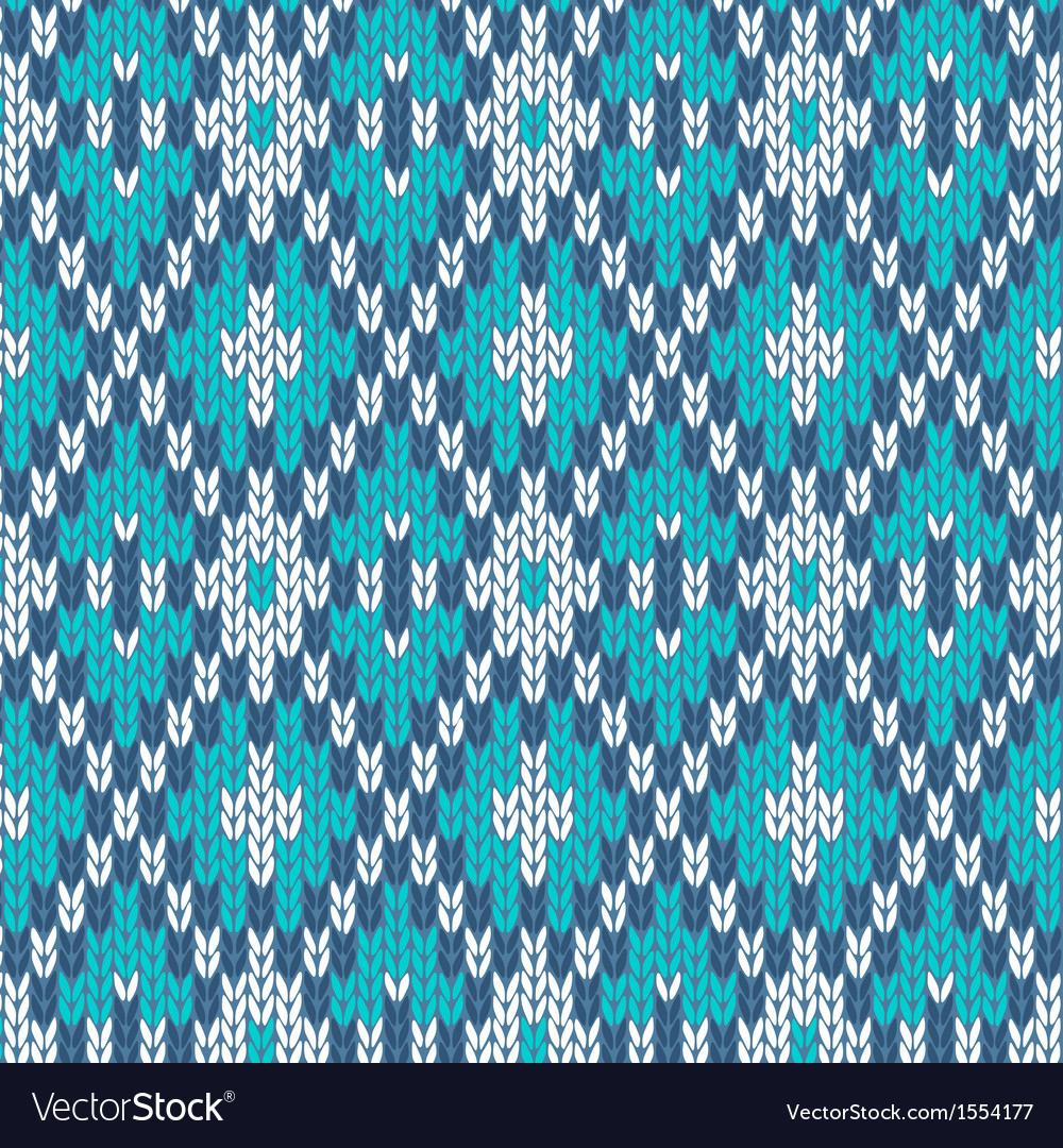 Seamless knitted pattern style knit woolen vector | Price: 1 Credit (USD $1)