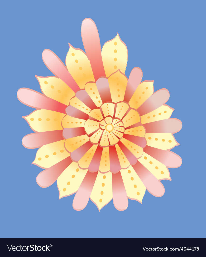 Abstract yellow cockleshell vector | Price: 1 Credit (USD $1)