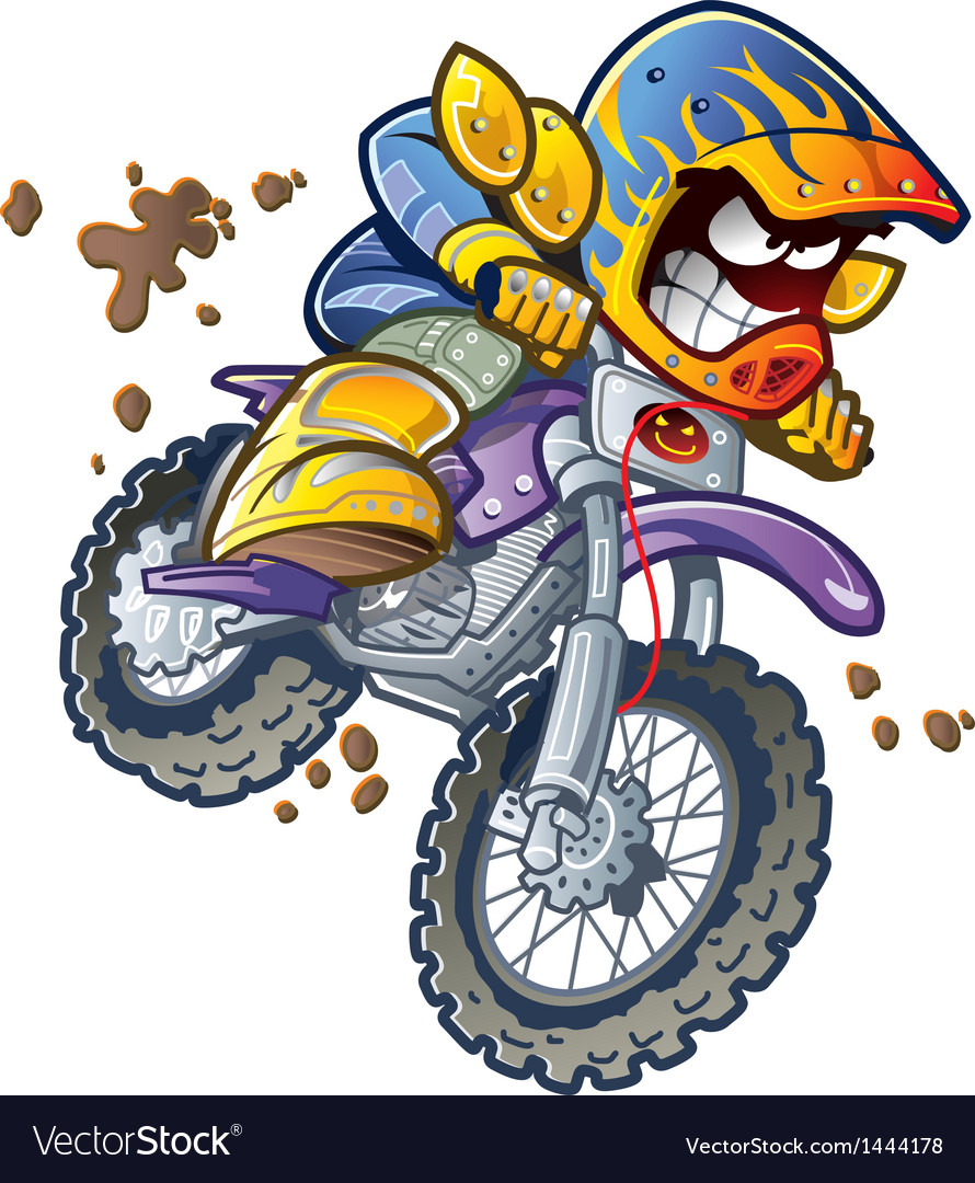 Bmx dirt bike rider vector | Price: 3 Credit (USD $3)