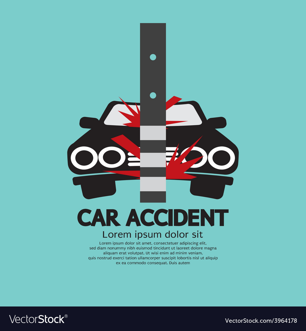 Car accident with pole vector | Price: 1 Credit (USD $1)