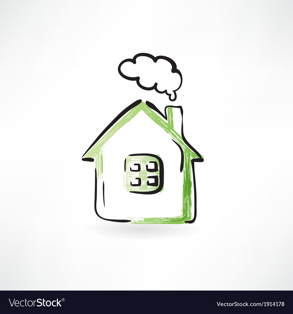 House with smoke from the chimney vector | Price: 1 Credit (USD $1)