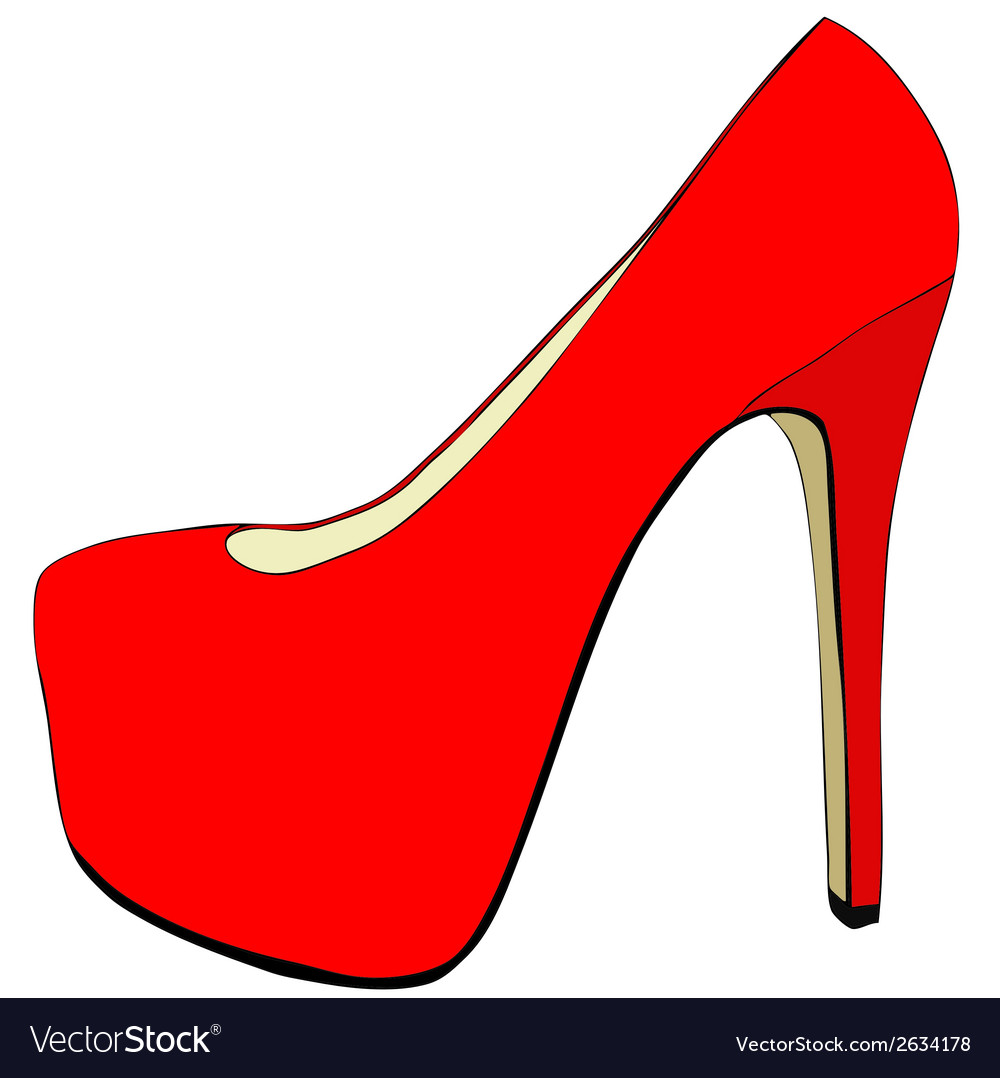 Pretty womens shoes vector | Price: 1 Credit (USD $1)