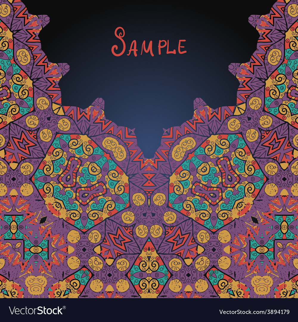 Arabian style ethnic ornamental frame for text vector | Price: 1 Credit (USD $1)