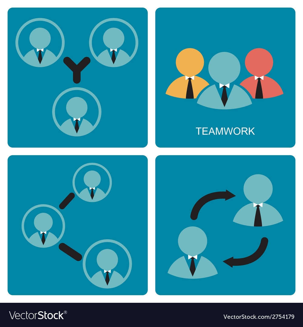 Brainstorm and teamwork symbol vector | Price: 1 Credit (USD $1)