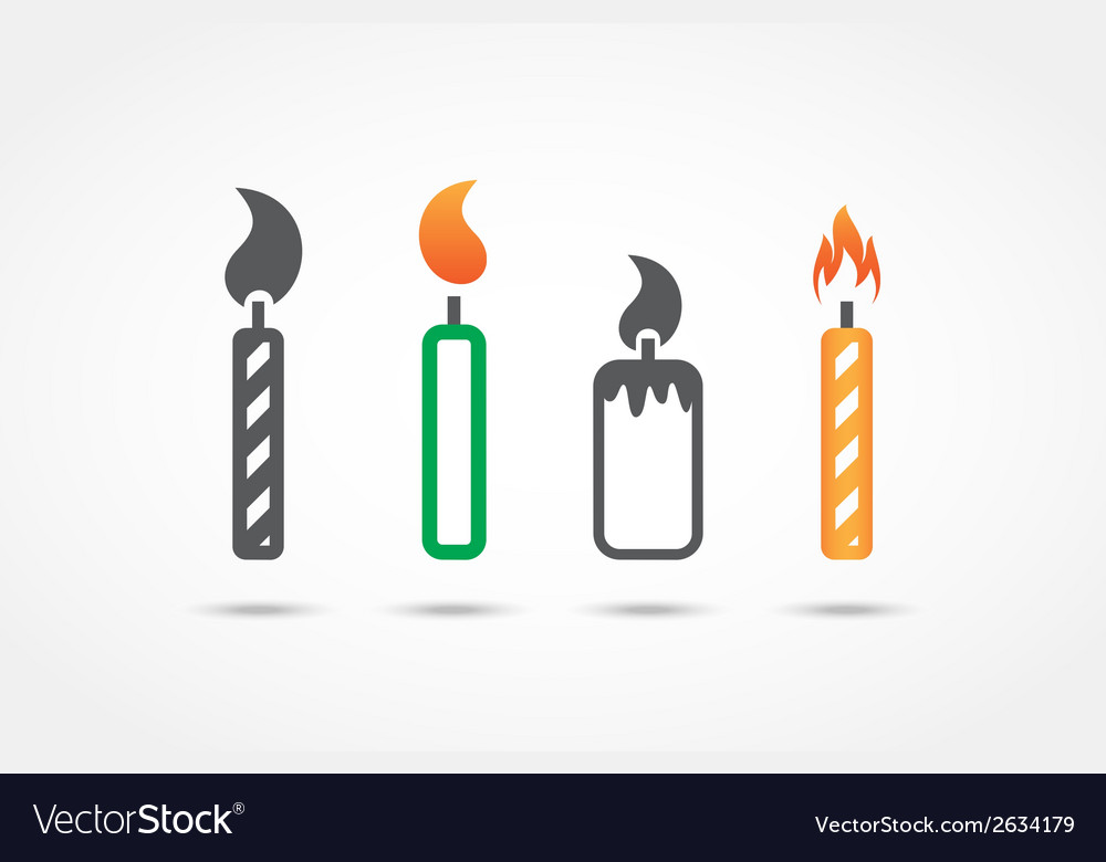 Candle icons vector | Price: 1 Credit (USD $1)