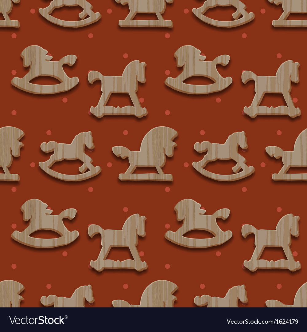 Christmas seamless pattern with rocking toys vector | Price: 1 Credit (USD $1)