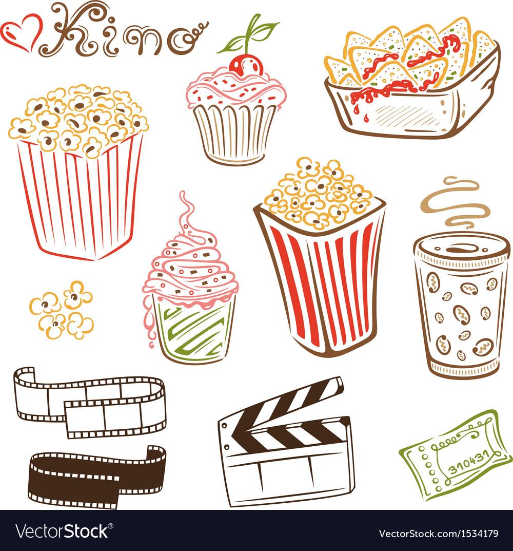 Cinema design elements vector | Price: 1 Credit (USD $1)