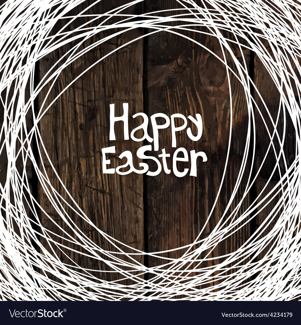 Easter card wooden background vector   Price: 1 Credit (USD $1)
