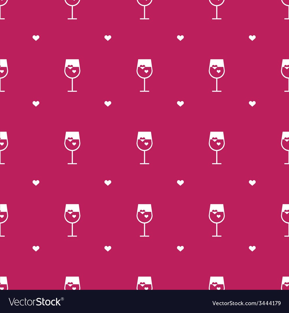 Flat minimalistic wine seamless pattern vector | Price: 1 Credit (USD $1)