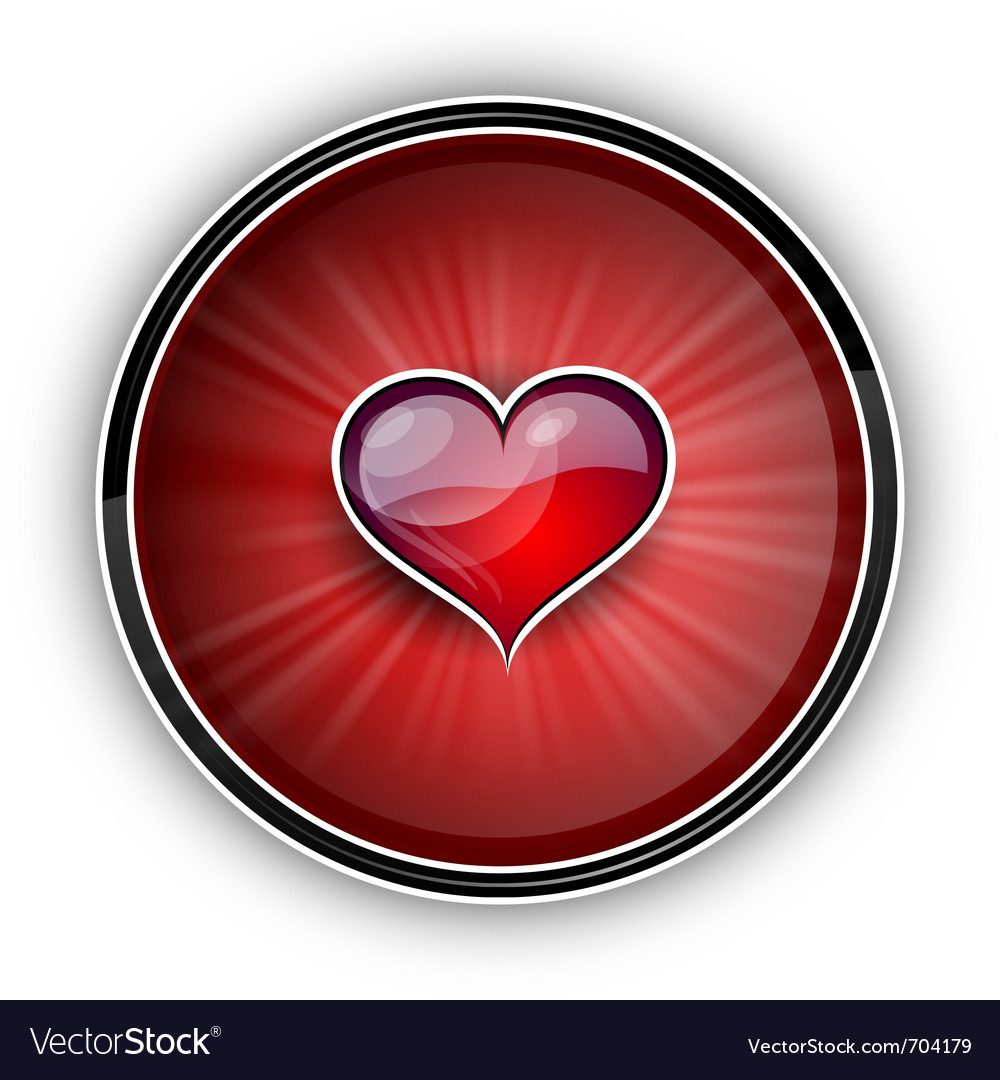 Heart on the red symbol vector | Price: 1 Credit (USD $1)